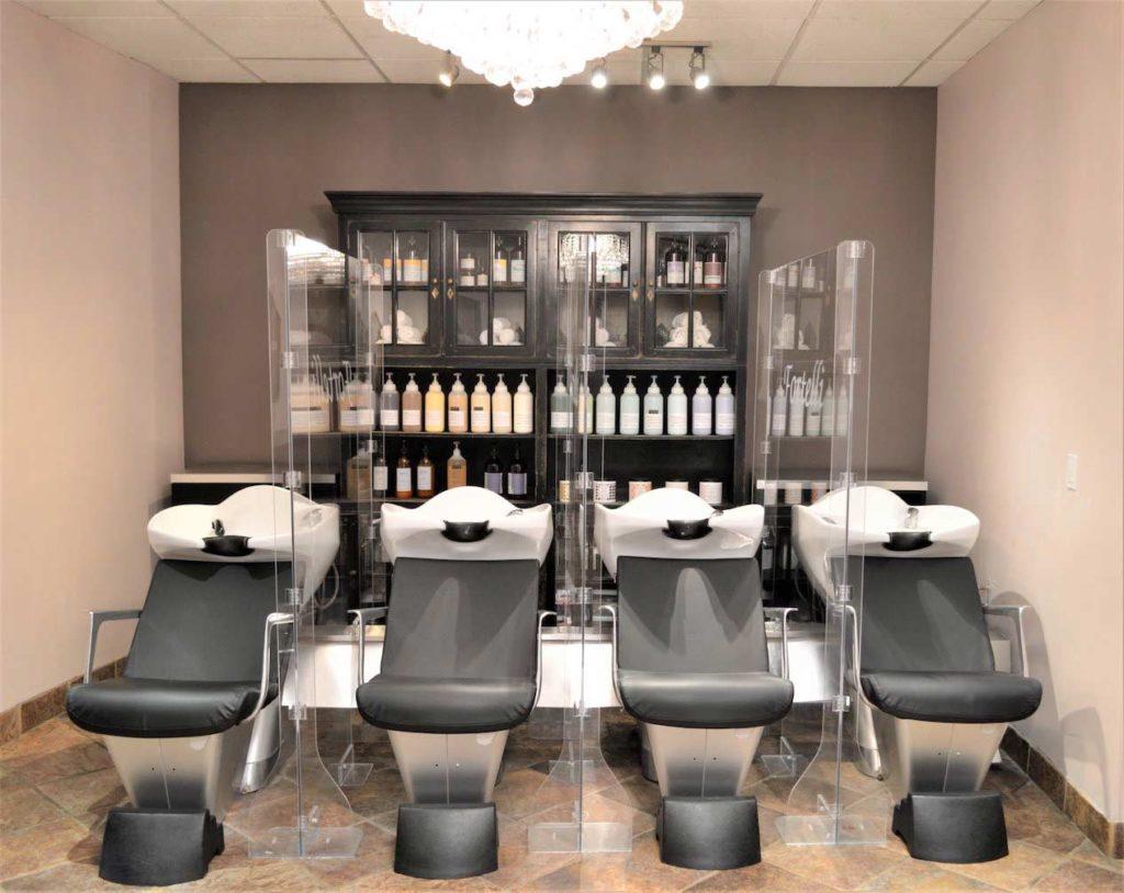 Hair Washing stations at Fortelli Salon & Spa
