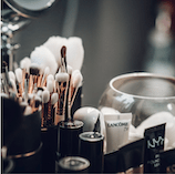 Makeup accessories detail